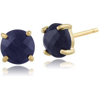 Zivaha Charming 92.5 Sterling Silver Yellow Gold Plated Silver Stud Earring ZIE2044