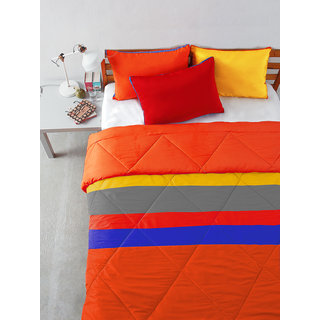 Multi Colour Microfiber Patchwork Bedding Essentials (Pillow 18 X 27)