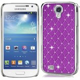 SAMSUNG GALAXY S4 I9500 Crystal Lattice Bling Hard Back Case Cover PURPLE Color