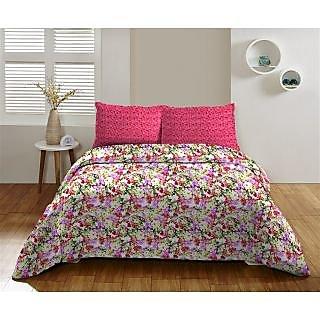 Multi Colour 220 TC Cotton Bedsheet (Bedsheet Set (Single))