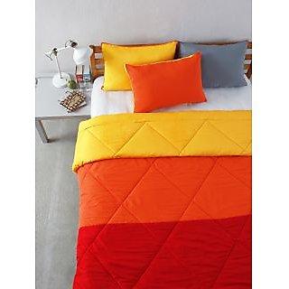 Multi Colour Microfiber Patchwork Bedding Essentials (Pillow 18 X 27)