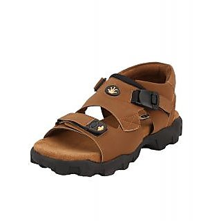 Afrojack Men's Tan Velcro Sandals