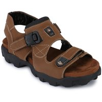 Afrojack Men'S Rich Synthetic Leather Sandals