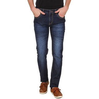 Raux Men's  Blue Slim Fit Jeans-RX3849blue