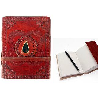Journals Notebook,Diary,Lokta Paper Diary Handmade Dark Buffalo Leather Diary