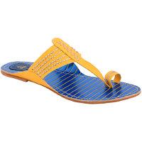 Claude Lorrain Women's Yellow Flip Flops