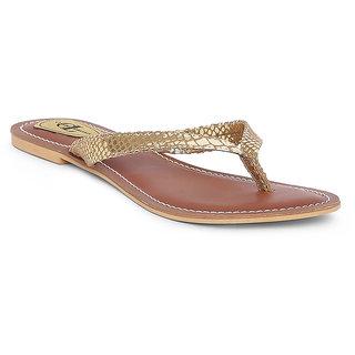 Claude Lorrain Women's Gold Flip Flops