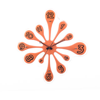 eCraftIndia Premium Decorative Analog Brown Round Wooden Wall Clock