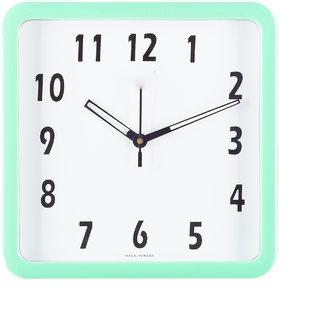 eCraftIndia Decorative Analog Green Square Wall Clock