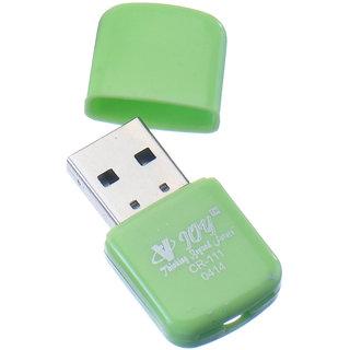 VJOY CR-111 Card Reader (Green) (Single Format for MicroSD Cards, Plug  Play Type with LED Indicators) USB V2.1  V1.1 Card Reader