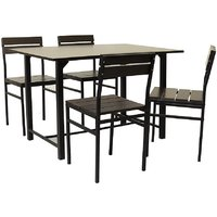 FurnitureKraft Metal Dining Set(Finish Color - Black)