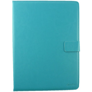 Emartbuy 3Q AC1024C 10 Inch Tablet PC Turquoise Plain Premium PU Leather Multi Angle Executive Folio Wallet Case Cover With Card Slots + Stylus