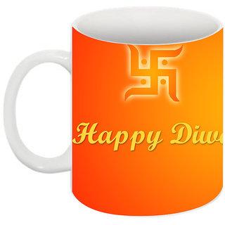 Abha Gaurav Creations Printed Diwali Mug