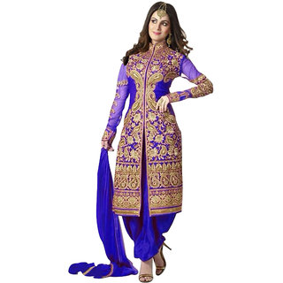 Trendz Apparels Blue 60 gm Georgette Anarkali Suit Salwar Suit