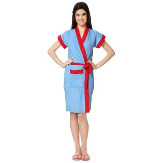 Imported Double Shaded Bathrobe (Sky Red)