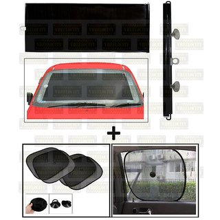 Chipkoo Black (4)  Front Roller Sunshade Black