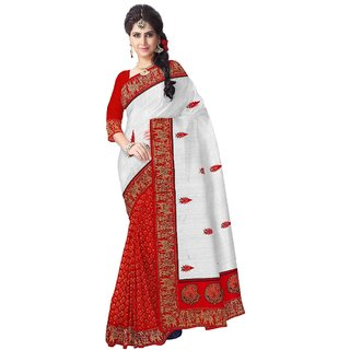 Aagaman Fashion Fine-looking  Colored  Art Silk Saree 13151