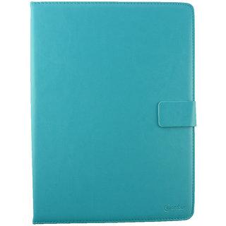Emartbuy PolaTab Elite Q10.2 Tablet 2015 10 Inch Turquoise Plain Premium PU Leather Multi Angle Executive Folio Wallet Case Cover With Card Slots + Stylus