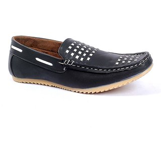 Foot 'n' Style Cool Black & White Loafer