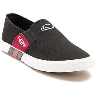 Lancer Men's Black Open Casual Shoes