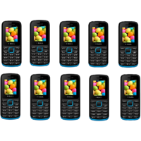 Combo Of 10 IKall K11 Black & Blue (Dual Sim, FM Blueto