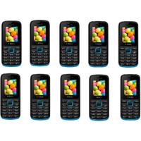 Combo Of 10 IKall K11 Black & Blue (Dual Sim, FM Blueto