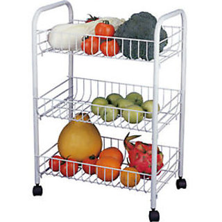 vegetable storage trolley kitchen 3 tier fruit vegetable storage rack trolley bathroom 6755