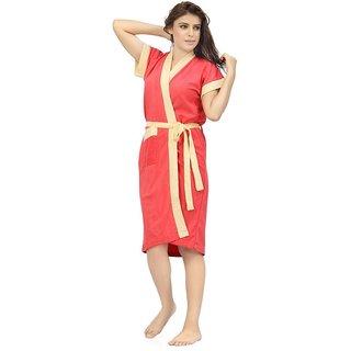 Imported Cotton Elegant Women's Bathrobe (Gajri Lemon)