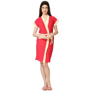 Imported Double Shaded Bathrobes (Red Yellow)