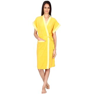 Imported Double Shaded Cotton Bathrobes (Gold)