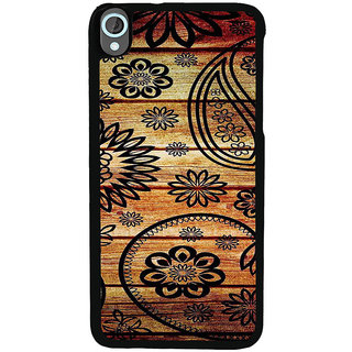 ifasho Animated Royal Pattern with Wooden back ground Back Case Cover for HTC Desire 820