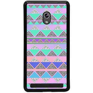 ifasho multi color Triangular Pattern Back Case Cover for Asus Zenfone 5