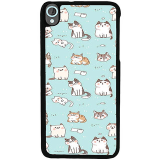 ifasho Animated Design  Many Cat Back Case Cover for HTC Desire 820