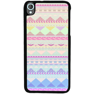 ifasho multi color Triangular Pattern Back Case Cover for HTC Desire 820