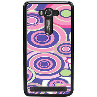 ifasho Animation Clourful Circle Pattern Back Case Cover for Asus Zenfone2 Laser ZE 500KL