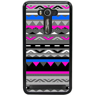 ifasho multi color Triangular and circle Pattern Back Case Cover for Asus Zenfone2 Laser ZE 500KL