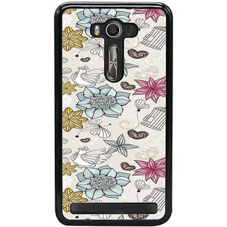 ifasho Animated Pattern colrful design flower and cage and hen Back Case Cover for Asus Zenfone2 Laser ZE 500KL