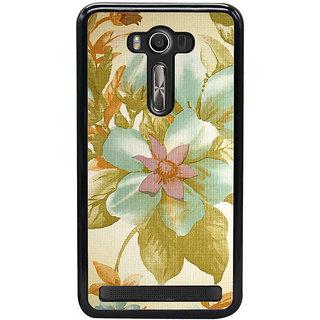 ifasho Animated Pattern colrful design flower with leaves Back Case Cover for Asus Zenfone2 Laser ZE 550KL