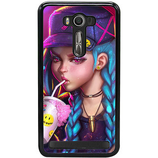 ifasho Girl drinking cold drink Back Case Cover for Asus Zenfone2 Laser ZE 550KL