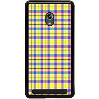 ifasho Colour Full yellow Squre Pattern Back Case Cover for Asus Zenfone 5