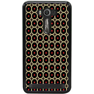 ifasho Animation Clourful Circle on black background Pattern Back Case Cover for Asus Zenfone Selfie