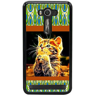 ifasho Cat with big eyes animated designed Back Case Cover for Asus Zenfone Selfie