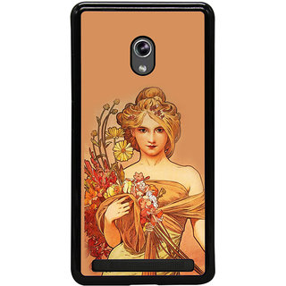 ifasho Young Girl with flower in hand Back Case Cover for Asus Zenfone 6