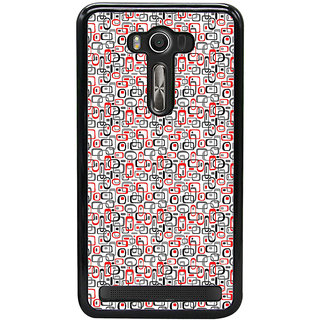 ifasho Modern Theme of colorful Squre inside square and dots Back Case Cover for Asus Zenfone2 Laser ZE 500KL