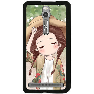 ifasho Lovely Girl with Hat Back Case Cover for Asus Zenfone 2
