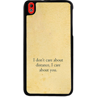 ifasho care quotes  Back Case Cover for HTC Desire 816