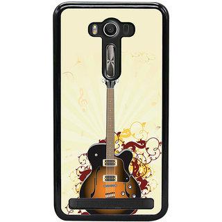ifasho Modern Art Design Pattern Music Instrument Guitar Back Case Cover for Asus Zenfone Selfie