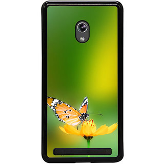 ifasho Butterfly sitting on flower Back Case Cover for Asus Zenfone 5
