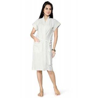 Imported Elegant Bathrobe (White)