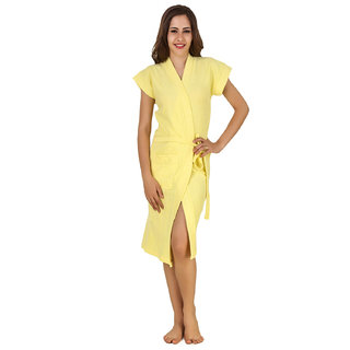 Imported Cotton Bathrobes (Yellow)